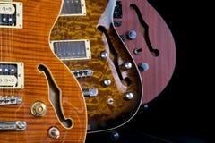 hål för gitarrer för huvuddelskärm f hollow tre Fotografering för Bildbyråer