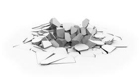 Hål för skal för golv för konkret tjock skiva stock illustrationer