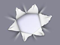 Hål i aluminium Fotografering för Bildbyråer