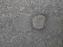 Hål i asfalt royaltyfria bilder