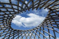 Hål in i skyen arkivbilder