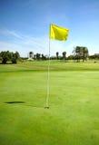 Hål på golfbanan av Costa Ballena, Rota, Cadiz landskap, Spanien Arkivfoto