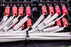 Hålighet av elektrisk tråd Arkivfoton
