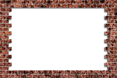 hålillustrationen för tegelsten 3d framför väggen Royaltyfri Foto