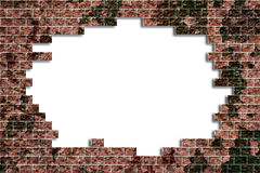 hålillustrationen för tegelsten 3d framför väggen Royaltyfria Bilder