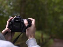 Håll en kamera Arkivbilder