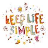 Håll liv enkelt vektor illustrationer