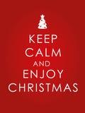 Håll lugna och tyck om julbakgrund Arkivfoton