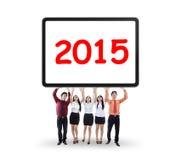 Håll nummer 2015 för affärsgrupp Royaltyfria Foton