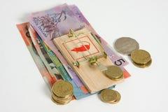 håll pengarsafen din Royaltyfri Fotografi