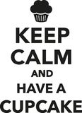 Håll stillhet och ha en muffin royaltyfri illustrationer