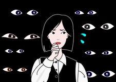 hålla ögonen på för ögon Arkivfoton