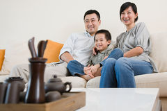 hålla ögonen på för familjtv Arkivfoto