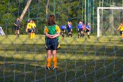hålla ögonen på för goalie Royaltyfria Foton