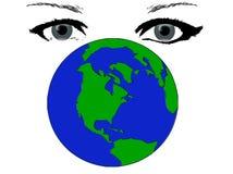 hålla ögonen på för jordplanet Royaltyfri Fotografi