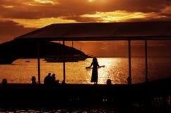 hålla ögonen på för solnedgång Arkivfoton