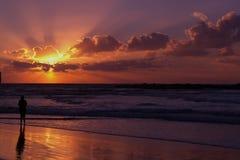 hålla ögonen på för solnedgång Royaltyfri Bild