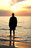 hålla ögonen på för solnedgång arkivbilder