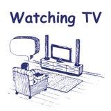 hålla ögonen på för tv Stock Illustrationer