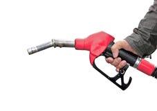 Hållande bränslepump för man Royaltyfri Foto