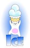 Hållande glass för isbjörn Arkivfoto