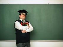 Hållande kulram för manlig nerd Arkivbilder