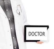 Hållande minnestavla för doktor - doktor Royaltyfri Bild
