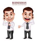 Hållande mobiltelefon för yrkesmässigt för affärsman tecken för vektor stock illustrationer