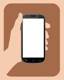 Hållande mobiltelefon II för hand Fotografering för Bildbyråer
