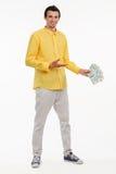Hållande pengar för barndundersuccédirektör royaltyfri fotografi