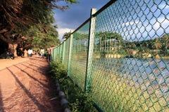 Hållande staket tillbaka Royaltyfri Foto