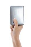 Hållande yttre harddisk för hand Royaltyfria Foton