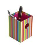 Hållare av pennan och blyertspennan Fotografering för Bildbyråer