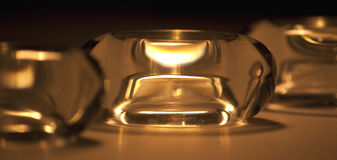 hållaretealight Fotografering för Bildbyråer