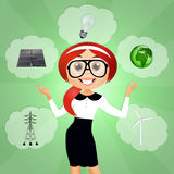 hållbar energi Arkivfoto