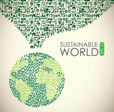 Hållbar värld stock illustrationer