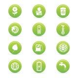 Hållbarhetsymboler Arkivfoto