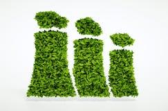 Hållbart energibegrepp för ekologi Arkivbilder