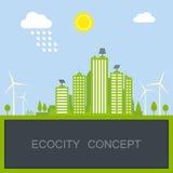 Hållbart stadsbegrepp Arkivfoton