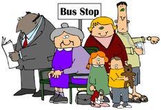 hållplats stock illustrationer