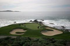 hålpebble för 7 strand Arkivfoto