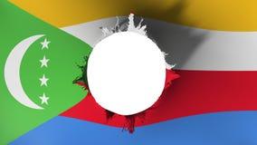 Hålsnitt i flaggan av Comoros vektor illustrationer