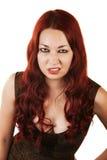 Hånfull Grumpy kvinna fotografering för bildbyråer