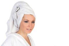 hår över handdukkvinna Royaltyfri Bild