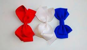 Hår bugar/rött, vitt och blått Royaltyfri Bild
