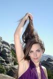 hår för 9 arm upp variation Arkivbild