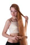 hår long arkivfoton