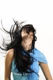 hår long royaltyfria bilder