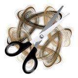 hår scissor stock illustrationer