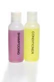 hårbalsamen isolerade shampoo royaltyfri bild